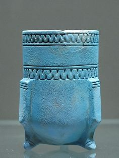 Ceramic, colored Egyptian blue to mimic lapis. Lower Mesop, 1300 BCE. Louvre
