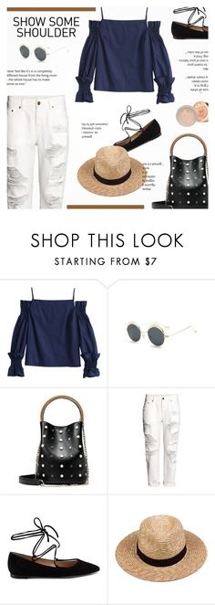 """""""show some shoulder"""" by novalikarida ❤ liked on Polyvore featuring H&M, Gianvito Rossi and Lack of Color"""