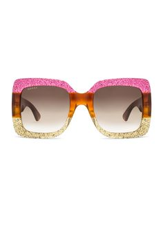 d8caeb51db22 Image 1 of Gucci Urban Web Block Sunglasses in Pink Web Gucci Eyewear