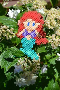 Ariel made out of perler beads