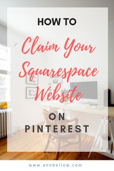 When you claim your Squarespace website in Pinterest it allows you to see extra analytics in your business account. You will be able to track the posts and pins that are converting well for your squarespace website and be able to tweak your Pinterest strategy from the analytics. #howto #squarespace #claimyourwebsite Pinterest Home Page, Pinterest Website, Pinterest For Business, Pinterest Marketing, Online Business, Digital Marketing, How To Memorize Things, About Me Blog