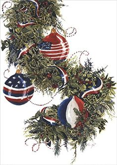 Americas Garland  Box of 18 Patriotic Christmas Cards * You can find out more details at the link of the image. (This is an affiliate link)