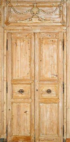 Bonhams Two pairs of Louis XVI pine doors within door surrounds