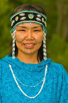 **Alaska, Yupik woman. I love that she is keeping the tradition alive of the tattoos.