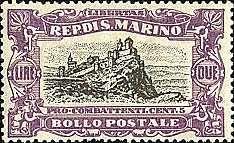 SAN MARINO B10 mnh overprinted 1918 PRO COMBATTENTI