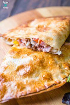 Syn Free ham and mushroom pizza calzone   Slimming World-1