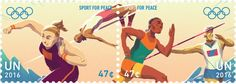 47¢ Track and Field  UNPA issued a set of stamps to promote the contribution of sport to peace.