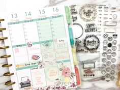 Hi everyone, this is Lucy and I am back again on Studio L2E blog. This time around I am going to show you how I used the new stamps on my Happy Planner. I always love the idea of new shiny sparkle …