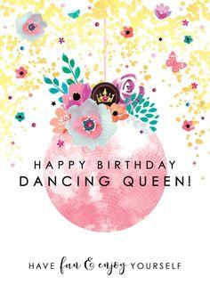Happy Birthday Dancing, Happy Birthday Friend, Happy Birthday Messages, Birthday Love, Happy Birthday Greetings, Card Birthday, Sister Birthday, Birthday Ideas, Birthday Gifts