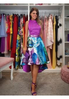 Sexy A-line V-neck Spring Floral Printed Long Prom Dress With Pockets Prom Dresses With Pockets, Nice Dresses, Short Dresses, Formal Dresses, Colourful Outfits, Colorful Fashion, Floral Print Maxi Dress, Elegant Outfit, Satin Dresses