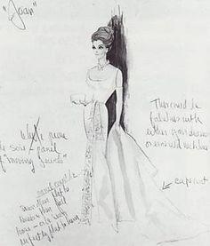 edith head sketch for joan crawford dress by amcannon6, via Flickr