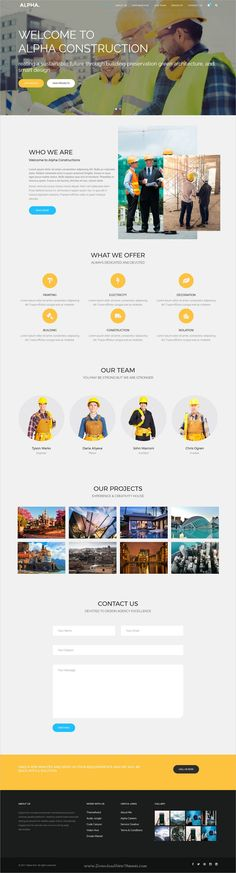 Alpha dot is awesome multipurpose responsive #WordPress theme for creative #construction company website with 18+ niche homepage layouts, 75+ pages & 20+ widgets download now..