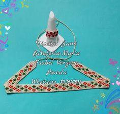 Diseños Sami Bisuteria:   www.bisuteriasam.blogspot.com: Gargantilla en Telar con mostacilla checa