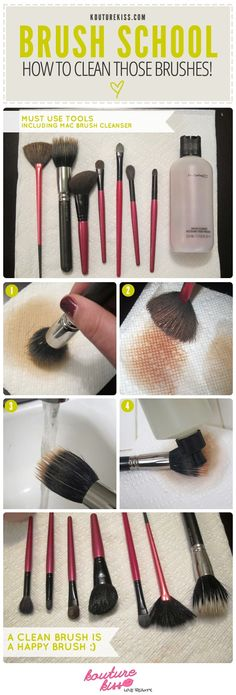 DIY - How to Clean your Makeup Brushes.