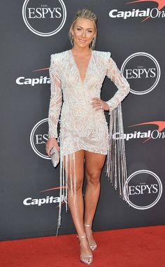 Mikaela Shiffrin from ESPYS 2019 Red Carpet Fashion Alpine Skier in Pronovias (Styled by Jasmine Caccamo) Mikaela Shiffrin Hot, Fit Black Women, Sexy Women, Athletic Women, Sport Girl, Female Athletes, Red Carpet Fashion, Woman Crush, Sports Women