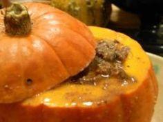 Dinner in a pumpkin from Pumpkinlicious.com
