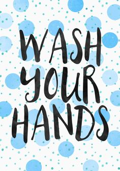 Poster | WASH YOUR HANDS von Elisabeth Fredriksson | more posters at http://moreposter.de
