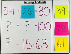 Teach missing addends (+ 9 other awesome ideas!) with post-it notes!