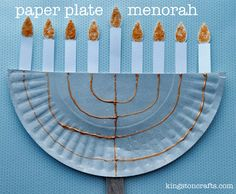 30 Days of Xyron - Paper Plate Menorah Kids' Craft! — Kingston Crafts