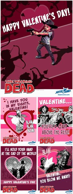 The Walking Dead Valentine's I am so looking for these hilarious