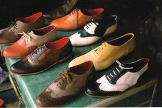 he can never have enough oxfords.
