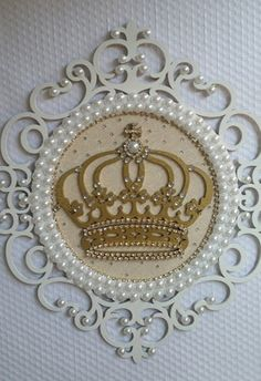 crown me for a day~~ Wood Crafts, Diy And Crafts, Photo Frame Design, Baby Kit, Baby Room Decor, Princess Party, Diy Gifts, Decoupage, Projects To Try