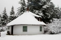 Book your stay at Lothlorien Cottage Hogsback in Hogsback, South Africa. Out Of Africa, Winter White, Continents, Places Ive Been, South Africa, Gazebo, Cottage, Outdoor Structures, Snow