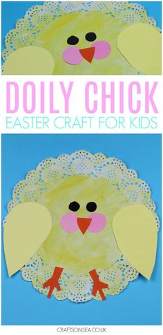 This super cute Easter chick craft for kids is easy to make and only costs pennies in supplies. #easter #kidscrafts #preschool #spring #eastercrafts