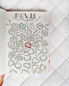 Page des films a regarder à colorier et remplir au fur et à mesure