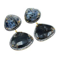 Silvesto India Wonder Sapphire And Cubic Zirconia Gemstone 925 Sterling Silver Vermeil Earrings PG-4695  https://www.amazon.co.uk/dp/B01M9CLDAD