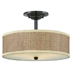 Found it at Wayfair - Zen 3 Light Short Drum Pendant in Mystic Black