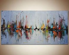 Contemporary Art, Abstract Landscape Art, Living Room Art, Canvas Art, Landscape Art Modern Wall Art Original Oil Painting Abstract Painting
