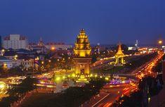 Cambodian Independence Monument Phnom Penh, Cambodia