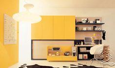 SolusiProperti : Ide Dekorasi Interior Kamar Tidur Remaja Yang Kuning Dinamis