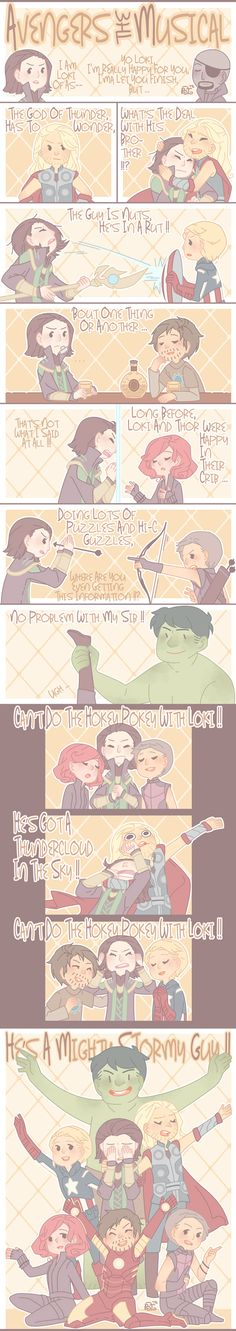 Avengers Musical - guys this is an actual song - here = http://lokilust.tumblr.com/post/30739917662/queen-loki-of-asgard-claimtoloveme
