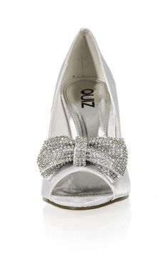 Shoes: Cream Satin Diamante Peep Toes [ UK & Ireland Buy New: £34.99 ] []Satin material []Peep toe style []Silver metal heel []Heel height: 4 inches approx Window Shopping, New Shoes, Peeps, Stuff To Buy, Fashion, Diamond, Moda, Fashion Styles, Fashion Illustrations