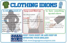 Enjoy these clothing idioms!