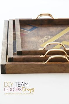 DIY 'Team Colors' Serving Tray