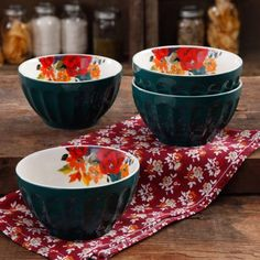 "The Pioneer Woman 5.75"" Latte Bowl Set, 4-Pack"
