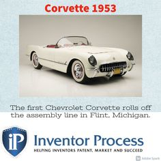 Do you have a new product that will last a lifetime? Contact Inventor Process today! 702-912-2600 #cars #corvette #1953 #chevrolet #michigan #hot #invent Inventors, Chevrolet Corvette, New Product, Michigan, Marketing, Cars, History, Hot, Historia