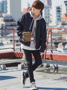 げんじさんのブルゾン「【WYM LIDNM】VINTAGE オーバーサイズ ZIPブルゾン」(WYM LIDNM|ウィム バイ リドム)を使ったコーディネートです。 Boy Outfits, Casual Outfits, Fashion Outfits, Korean Girl Fashion, Character Outfits, Aesthetic Clothes, Streetwear Fashion, Pose, Drawing