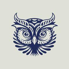 The Owl via … Owl Tattoo Drawings, Bird Drawings, Owl Logo, Owl Tattoo Design, Owl Cartoon, Beautiful Owl, Horned Owl, Owl Bird, Monochrom