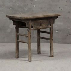Not sure where this lovely little table hails from but I would love to reproduce it in several sizes. Wood Furniture, Antique Furniture, Wabi Sabi, Repurposed, Dining Table, Woodworking, Chengdu, Side Tables, Furnitures
