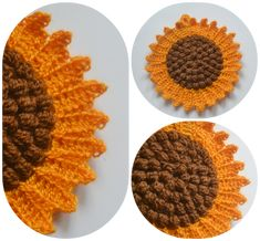The sunflower potholder had been in my wish list for a long time. I found the original vintage pattern here . I don't know if any of you... #VintageCrochetPatterns