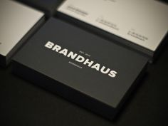 Love Typography. Check out these Business Cards with Big, Bold Typography