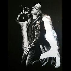 """Bono""  scratchboard"
