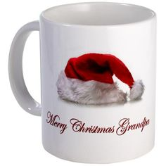 Christmas T-shirts and gifts. Christmas Mug by CafePress. Christmas T-shirts and gifts. Merry Christmas Grampa. A Christmas gift for your Grampa. Christmas Mug The perfect size for your favorite morning beverage or late night brew. Large, easy-grip handle. Treat yourself or give as a gift to someone special. Measures 3.75 tall, 3 diameter. Dishwasher and microwave safe.. Price: $15.00