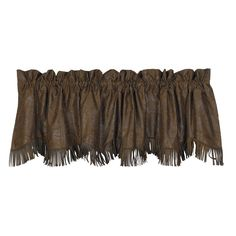 HiEnd Accents Faux Tooled Leather Western Valance in a tooled faux leather with fringe trim is the perfect accent for your Rustic Lodge or Western Decor. Leather Fringe, Leather Tooling, Tooled Leather, Western Valance, Black Forest Decor, Kitchen Valances, Rustic Bedding, Western Bedding, The Ranch