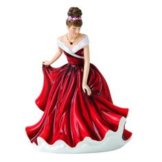 "Royal Doulton Birthstone Petites January Figurine, 6.9"", Garnet Royal Doulton"