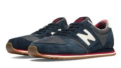 New Balance 420, available in navy, black or red. These are the perfect vintage style sneaker for running all over town. New Balance shoes are super comphy which is wonderful!